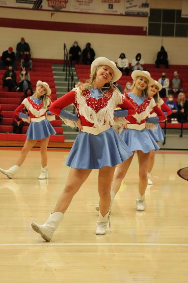 Ashley Hill performs during halftime.