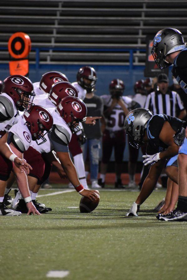 Football team playing against Springdale.