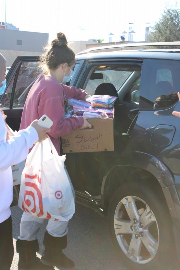 Abby Holycross doing volunteer work.